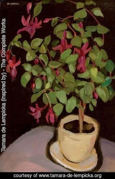Tamara de Lempicka (inspired by) - Pot of Fuchsias (Le pot de fuschias)