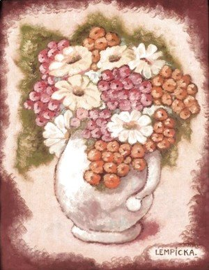Tamara de Lempicka (inspired by) - Vase of Flowers (Vase de fleurs)