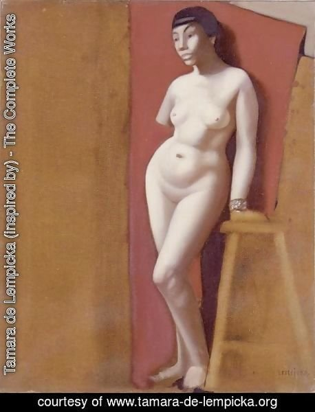 Tamara de Lempicka (inspired by) - Nude without Arm (Nu au bras coupe)