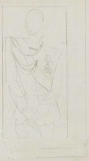 Study for the Portrait of the Grand Duke  (IIEtude pour le Portrait du Grand Duc II)