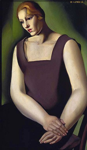 Tamara de Lempicka (inspired by) - Woman on a Chair. Weariness