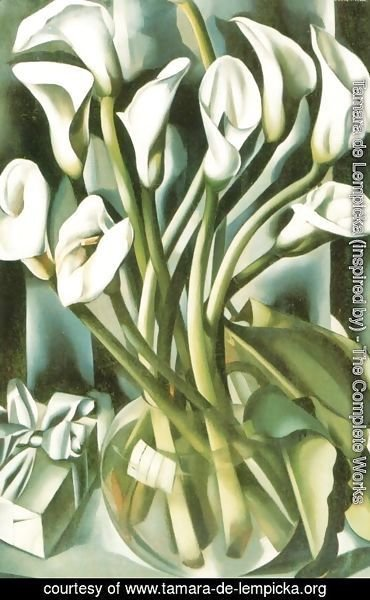 Tamara de Lempicka (inspired by) - Calla Lillies