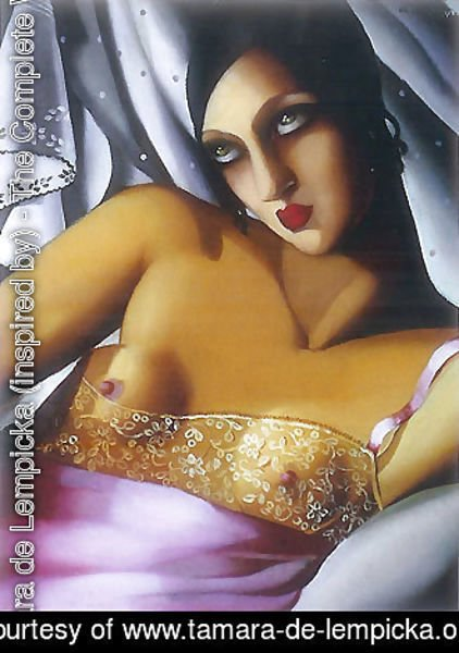 Tamara de Lempicka (inspired by) - La Chemise rose